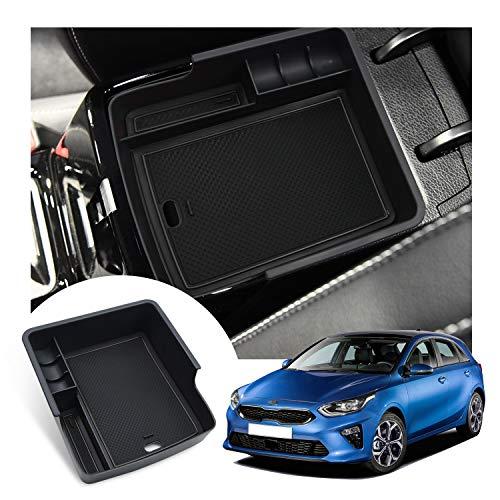 LFOTPP Mittelkonsole Aufbewahrungsbox Ceed Proceed GT, Armlehne Organizer Mittelarmlehne Handschuhfach, Tray Storage Box Auto Zubehör (Schwarz)
