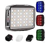 Falcon Eyes F7 Mini Kit RGB Control de aplicación de luz de Video LED con Panal y Brazo mágico para Video/Estudio/Youtube/Vlog Lámpara de Relleno de iluminación para fotografía