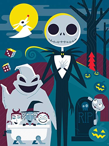 Ceaco Disney - Tim Burton's The Nightmare Before Christmas NBC Cartoon Jigsaw Puzzle, 300 Pieces