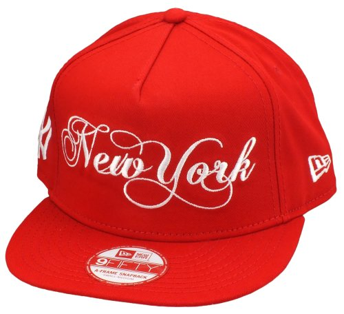 New Era New York Yankees Snapback A Frame Scripter Scarlet / White - S-M