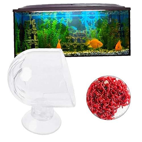 BYFRI Cristal del Alimentador RSS Acuario Ventosas Fish Food Artemia Huevos Fish Tank Pequeño Peces Tropicales RSS