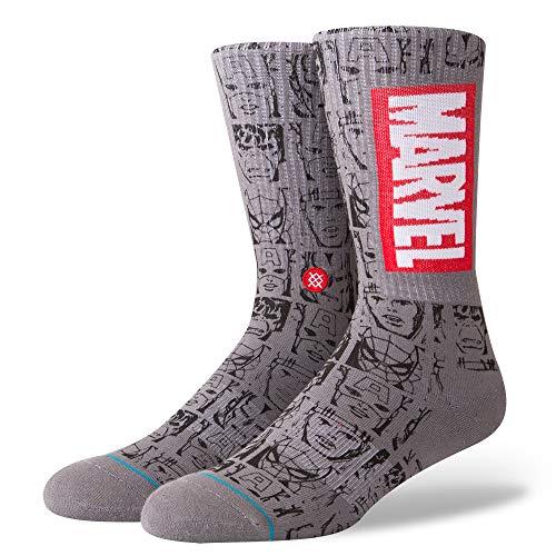 Stance Herren MARVEL ICONS Legere Socken, grau, Large