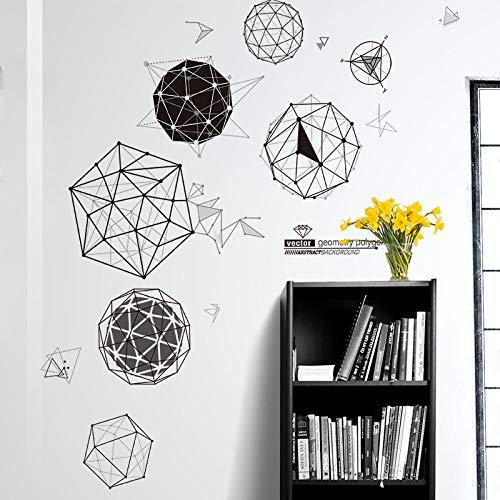 Pegatinas de pared simples y modernas sala de estar de la empresa oficina decoración de la pared pegatinas geométricas autoadhesivas 177 * 122 cm