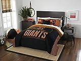 The Northwest Company MLB San Francisco Giants Full Comforter and Sham Set, Full/Queen black