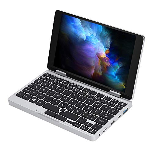 Garsent Mini Pocket Laptop Computer, 7 Zoll Ultrabook 8 GB RAM 128 GB ROM Notebook PC, Prozessor Intel 3965Y, Dual WiFi 2.4G / 5G für Windows, 100-240 V(EU)