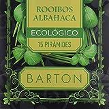 Barton Infusión Ecológica de Rooibos y Albahaca - 4 Paquetes de 30 gr - Total: 120 gr
