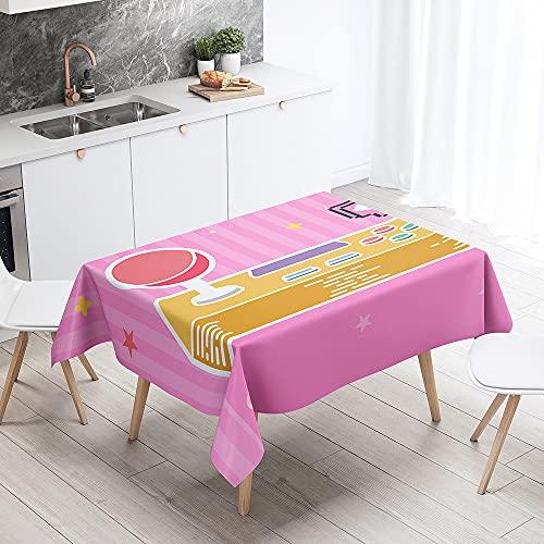 Sticker Superb 3D Gamepad Video Gioco Console Animale Lupo Cavallo Tovaglia, Rettangolare Antimacchia Cucina Copritavolo Quadrata Tavolo Panno per Sala da Pranzo Giardino (Multicolore 6,140x180CM)