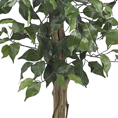 Product Image 8: Nearly Natural 3′ Ficus Silk Artificial Trees, 36in, Green