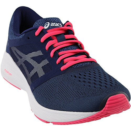 ASICS New Women's Roadhawk FF Running Shoe Insignia Blue/Silver/Rouge Red 8