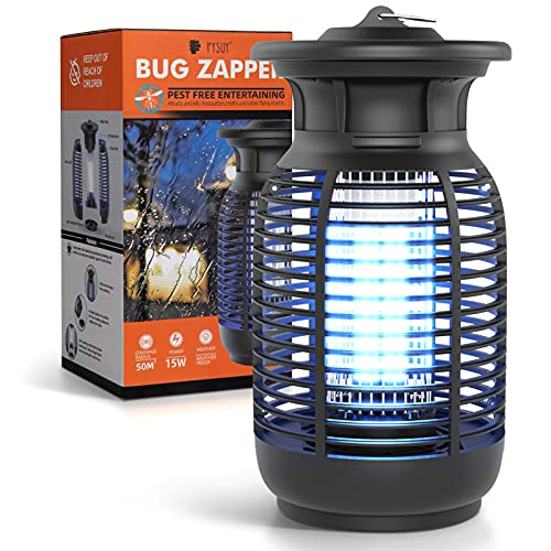 Bug Zapper for Outdoor and Indoor, Electronic Mosquito Zapper for Home, Garden, 4200V Powered Electric Light Mosquito Zappers Killer for Backyard, Patio, Camping
