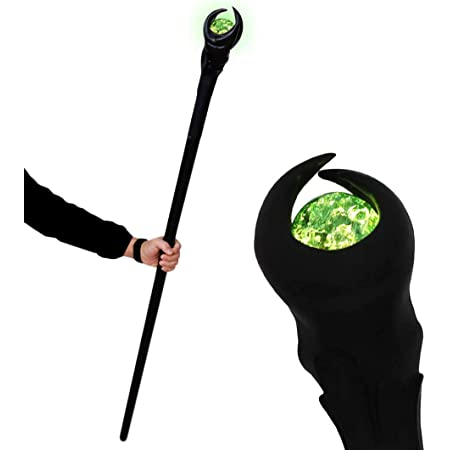 Bulex Witch Maleficent Wands Magic Glowing Light Up Scepter Wizard Cosplay Props