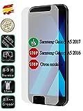 Movilrey Protector para Samsung Galaxy A5 2017 Cristal Templado de Pantalla Vidrio 9H para movil
