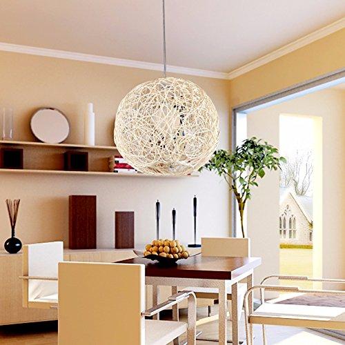 GQLB La Commissione lampadario a sfera lampada illumina il Bar Lounge sferiche di Bird's Nest Rattan lampadario lampada e ,300mm Soggiorno