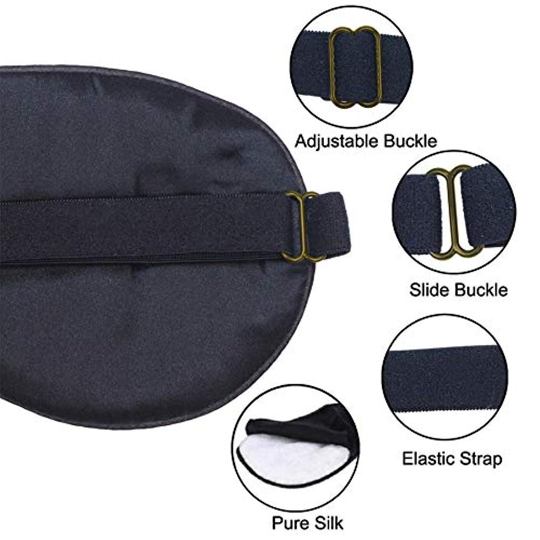 配列資格ジェムNOTE 高品質スリーピングアイマスクピュアシルクソフトで快適なアイパッチ用女性男性睡眠補助包帯目隠しアイシェード