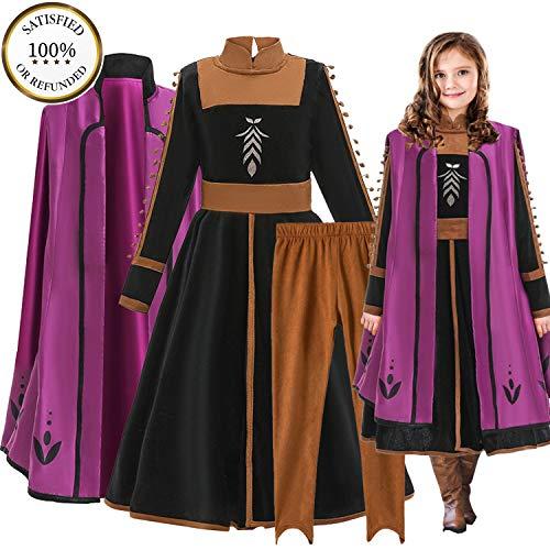 O³ Anna Kleid // Prinzessinnenkleid // Prinzessin Verkleidung Mädchen (Anna 140)