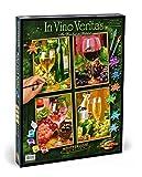 Schipper 609340610 Dipingere con i Numeri - 4 Quadri da dipingere, Motivo: in Vino Veritas, ognuno 18x24 cm