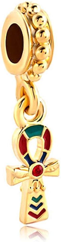 DemiJewelry Dangle Crystal Charm Beads for Charm Bracelets