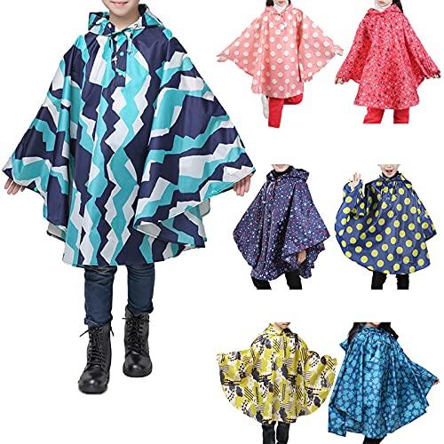 YQSR Capa de lluvia infantil para niña, con capucha, cortavientos, impermeable, ligera, de 1 a 5 años