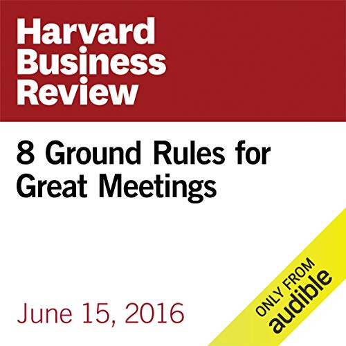8 Ground Rules for Great Meetings copertina