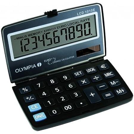 faltbarer Mini-Taschenrechner einfaches Rechenwerkzeug f/ür Studenten B/üro Dewin tragbarer