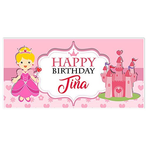 Princess Birthday Personalized Banner