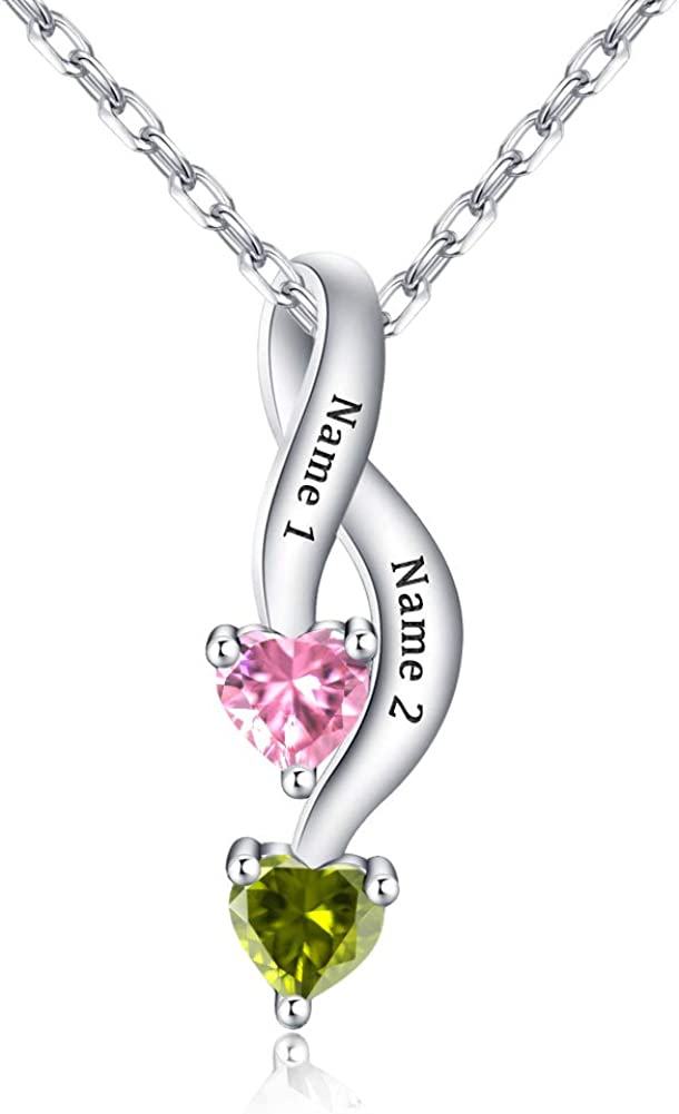 Misstrend Personalized Mother Necklace with Topics Limited time cheap sale on TV Cu Birthstone Heart