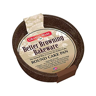 Granite Ware Better Browning Round Cake Pan, 8-inch