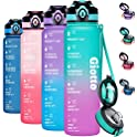 Giotto 32oz Motivational Water Bottle with Time Marker (various colors)