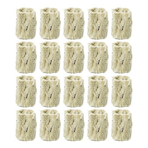 Cabilock 22Pcs Steinwolle- Herstellung Wachsen Cube Steinwolle Starter Plug Starter Blatt Steinwolle Hydrokultur Wachsen Media für Pflanzen Wachstum