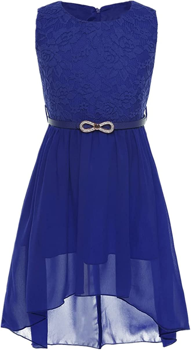 Mail order cheap CHICTRY Big Girls' Kids' Chiffon Prom Lace Floral Dance High-Low Sales of SALE items from new works