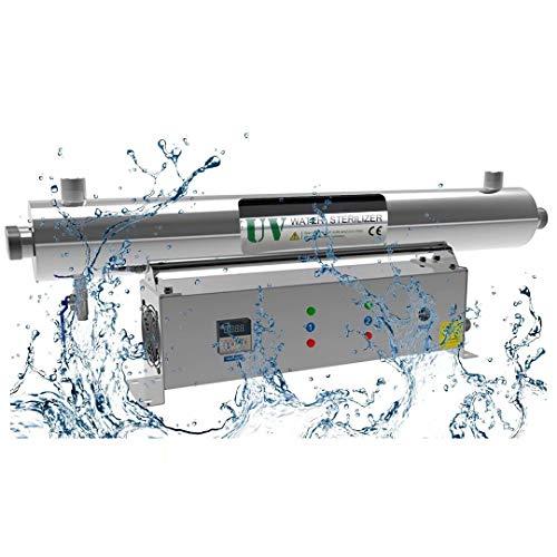 Filtro purificador esterilizador de Agua Ligera U-ltra-VIO-Let de Acero Inoxidable para Toda la casa y Comercial Purificación de Agua Desinfección Purificador de Filtro de Agua