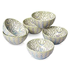 Versatile for Daily Use: This set of 6 beautiful bowls is perfect for serving cereal or oatmeal for breakfast, soups or salads, or ice cream for dessert Presentable and Vintage Design: With a rustic-inspired and vibrant colors design, these prep bowl...