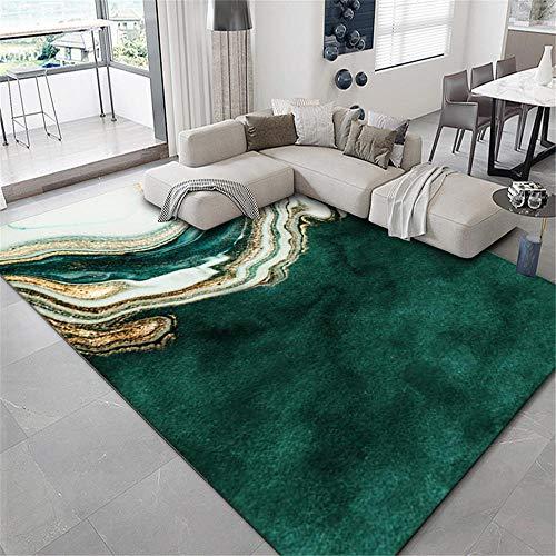 Teppiche Teppich kinderzimmer Grüne gelbe Tintensteppichwasserwäsche ist leicht, um das Wohnzimmer zu reinigen Kamin deko Wohnzimmer babyzimmer Teppich 180*280cm