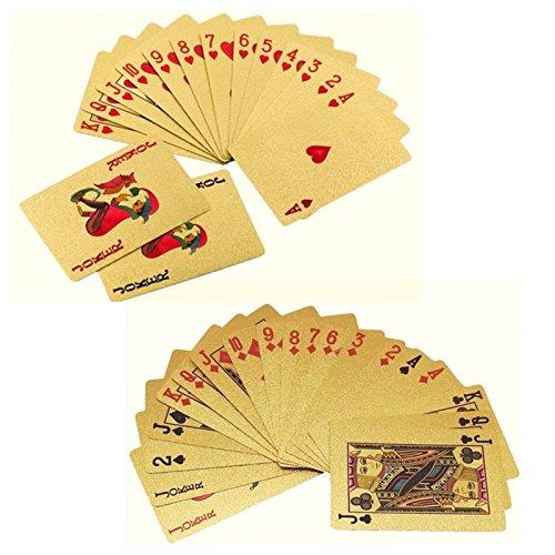 Pinzhi or plastique PVC Poker jeu de cartes magique étanche Table Jeu Deck de la carte