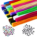 Chibbe Pipe Cleaners for Crafting - 1000 Pipe Cleaners Craft Supplies 25 Assorted Colors Chenille Stems for DIY Art Crafts Decorations Creative School Projects Kit for Kids and Adult 6 mm x 12 Inch