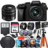 Panasonic Lumix DMC-G7 4K Wi-Fi Digital Camera & 14-42mm Lens (Black) + 64GB Transcend Memory Card + Battery & Charger + Case + Spider Tripod and More…
