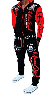 Men's Hooded Athletic Tracksuit Casual Sports Full Zip Warm JoggingSweatsuits
