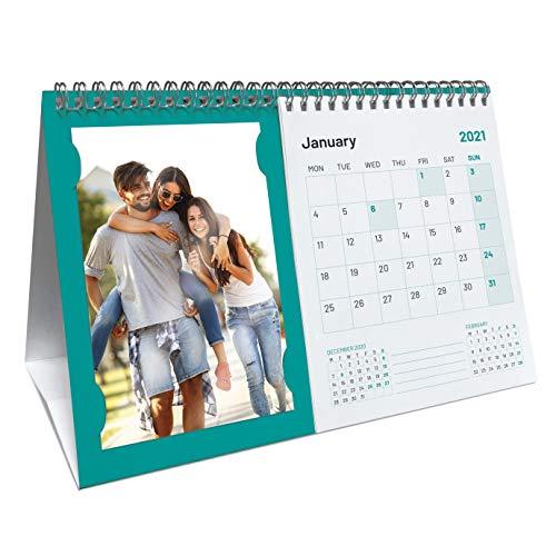 Calendario 2022 porta foto da scrivania, calendario internazionale da tavolo con foto personalizzate, calendario idea regalo CAL-T-foto_27x18 cm