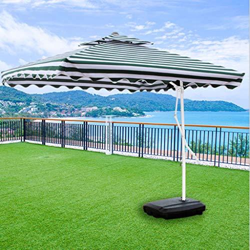 QIAOH Sombrilla para Terraza Exterior con Base, Sombrilla Playa Grande, Sombrilla Parasol Excentrico, Sombrilla Parasol Jardin, para Terraza Jardín Playa Balcón Piscina Patio