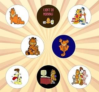 Garfield Set of 8 - 1 Inch Pinback Buttons