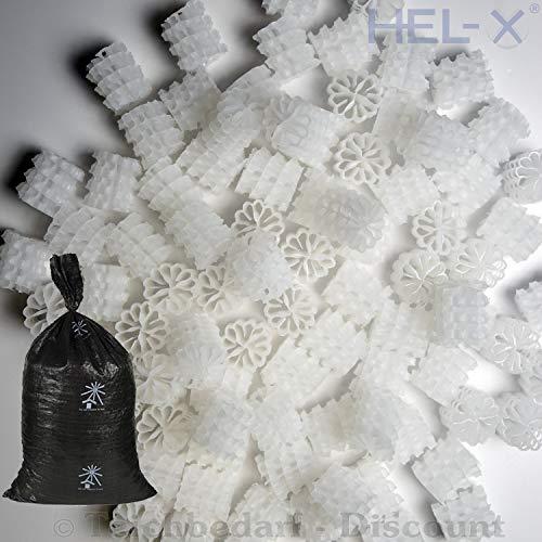 STÖHR HEL-X® Helix HXF 25 KLL - Farbe: Weiß - biocarrier Filtermedium für Biokammer Koi Teich Filter Füllkörper Filtermaterial - Menge: 200 Liter