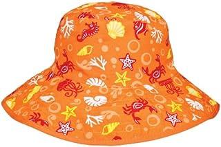 Baby BANZ UV Reversible Bucket Hat, Orange Tide