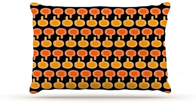 Kess InHouse Jane Smith Vintage Mushroom  orange Black Dog Bed
