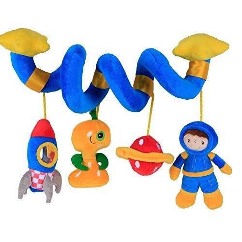 Labebe Activity Spiral, Süße Puppen Kinderwagen Spielzeug mit Blau Astronaut für Unisex Baby, Baby Spielzeug Kinderwagen/Spiral Kind/Spiral Blau/Spiral Spielzeug/Spiral Babyschale/Spiral Spiegelburg