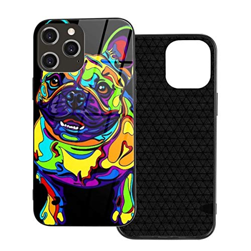 iPhone 12 Case French Bulldogs Tempered Glass Case Designed for Iphone12 Pro Max-6.7 2020 TPU Shockproof Glossy Cell Phone Cover