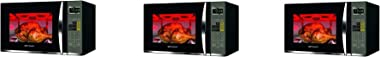 Emerson 1.2 CU. FT. 1100W Griller Microwave Oven with Touch Control, Stainless Steel, MWG9115SB (Thrее Расk, Black & Stainles