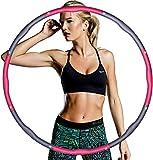 Hula Hoop, Hula Hoop, pneumatici per la riduzione del peso e il massaggio, 6-8 segmenti rimovibili, adatti per fitness, sport, casa, ufficio, addominali, 1,2 kg (rosa)