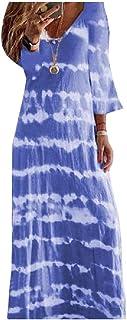 Winwinus Women V-Neck Loose Oversized Half Sleeve Casual Slim Fit Maxi Dress