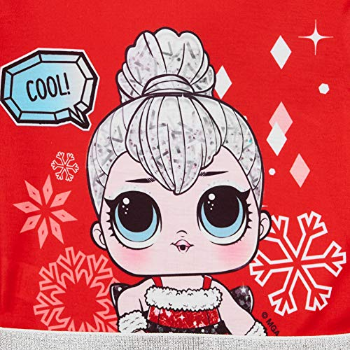 L O L Surprise! Vestido para Niñas, Falda de Tul Tutú de Ballet Brillante en 3D, Vestido de Manga Larga Princesa, Diseño Muñeca LOL de Navidad, Regalo para Niñas! 3 a 10 Años (3/4 Años)