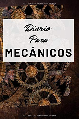 Diario Para Mecánicos: Diario Para Escribir Con Lineas. Diseño Reloj De Pared Oxidado Grande. Diario Personal Para Escribir Entre Pistones, Culatas, ... Blanda (6x9 in) (15.24x22.86 cm) 120 páginas.